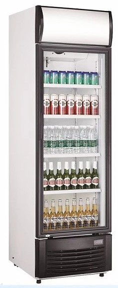 Commercial Upright Beverage Cooler Refrigerator With High Efficiency EC Fans,350L No Frost Beverage Showcase