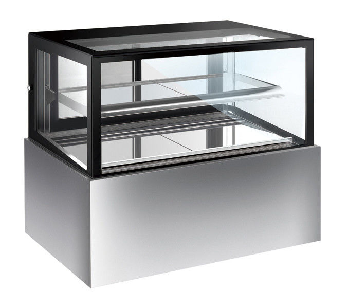 320L Glass Cake Display Unit , Chiller Display Fridge With Movable Shelf with 1200mm Length