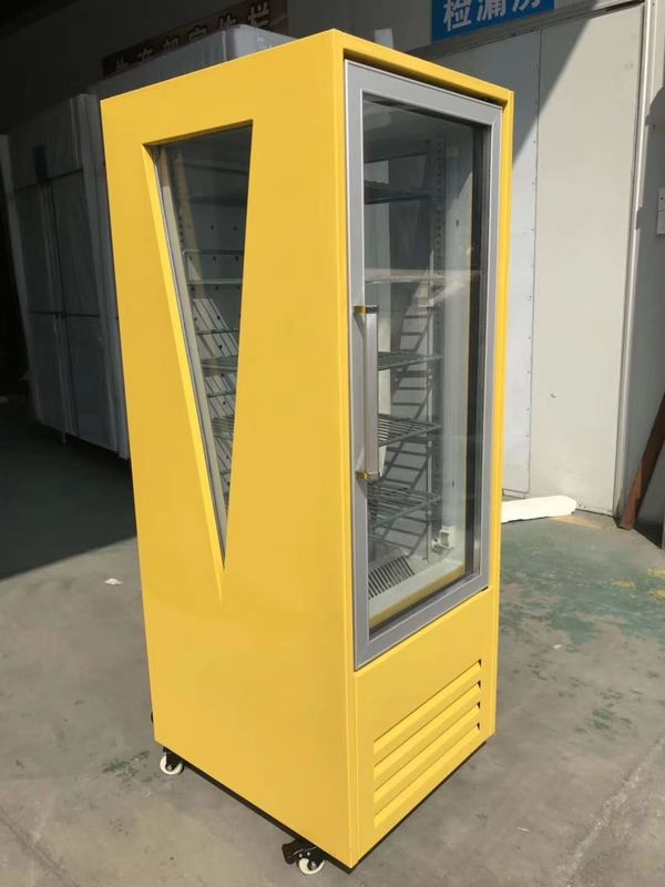 Manual Defrost Single Door Beverage Display Cooler , Commercial Beverage Fridge