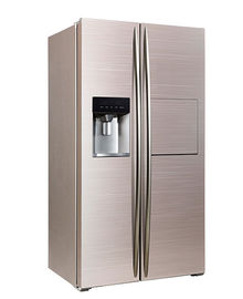 চীন 598L Side By Side Refrigerator Freezer Super Freezing CE Approval With Ice Maker And Home Bar কারখানা